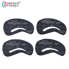 4 styles/set Grooming Stencil Kit Shaping DIY Beauty Eyebrow Template Make Up Tool 24 setyles #2404