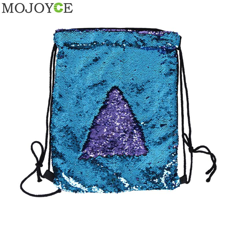 Women Sequin Backpack Fashion Bling Drawstring Bag Female Small Travel Backpacks For Teenage Girls Backpack Mochila Sac A Dos