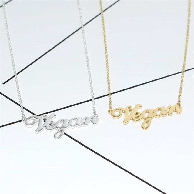 Necklace with Vegan Symbol Shaped Pendant