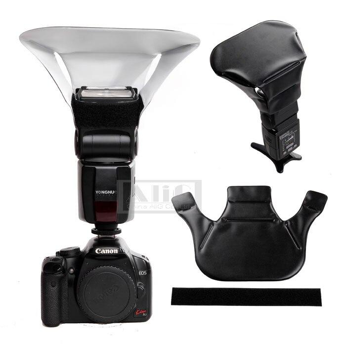Nylon Caméra Flash Diffusion De La Lumière Boîte à lumière Pliable Réfléchissant pour Canon 430EX 580EX II SB-600 SB800 SB900 YN565 Speedlite