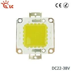 Высокая светодио дный мощность COB светодиодный чип 10W 20W 30W 50W 70 Вт 100 Вт DC 22 В -В 32 В Чипы SMD Теплый Холодный белый лампочки в комплектации COB