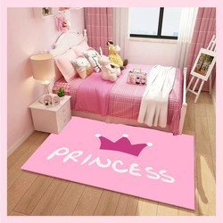 Home Girl Boys room carpet princess pink carpets for living room area rugs cartoon unicorn baby antiskid tapete customized size w Dywany od Dom i ogród na