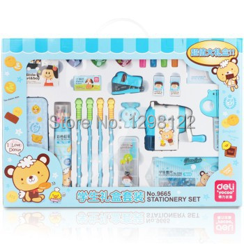 Free shipping new school stationery sets frozen school supplies kids stationery gift set children stationery set wj003 hot new rushed kit escolar bolso stationery set gift primary children birthday school tools supplies essential papelaria