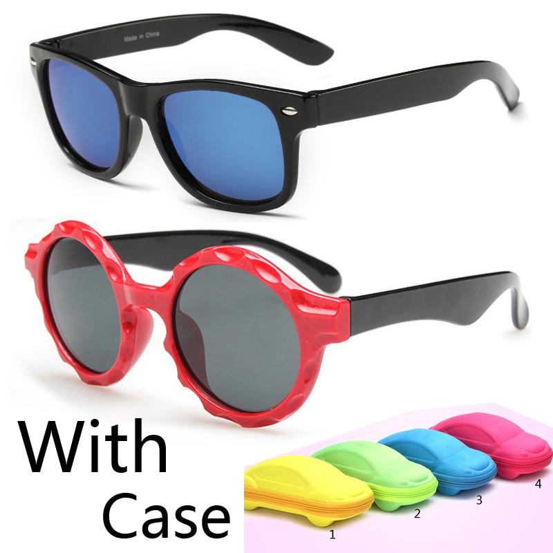 baby sunglasses ezfs  2016 New classic children baby girls boy kids sunglasses uv protection Kids  Sun Goggles UV400 gift with car case eyewear