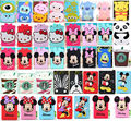 3D Cartoon Cover Soft Silicone Gel Rubber Case For iPad Mini 1/2/3 with screen protector 1pc