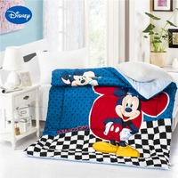 Mickey Mouse Printed Quilted Comforter Single Twin Size Boys 100% Cotton Fabric Autumn Winter Cartoon Character Polka Dot Plaid