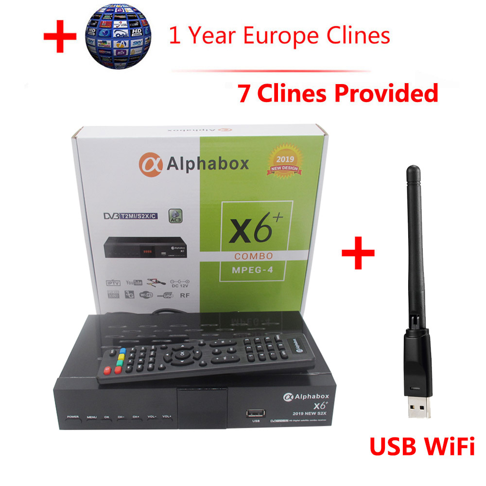 Alphabox X6+ Combo DVB S2/T2/C Satellite TV Receiver Support