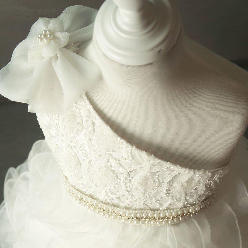 Ivory Flower Girl Dresses För Bröllop Vintage Kids Sideant Party - Bröllopsfestklänningar - Foto 5