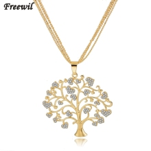 Fashion Jewellery Tree Of Life Necklace Women Gold & Silver Plated Pendant& Necklace Crystal Jewelry Collares Sne160113