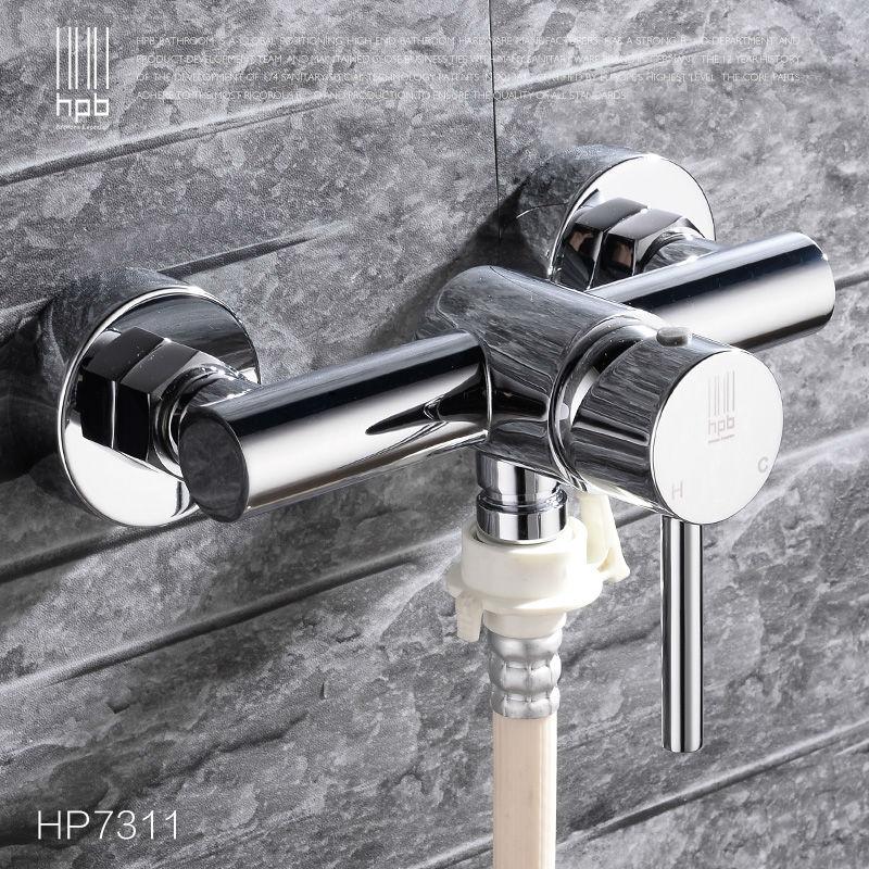 HPB laiton eau chaude et froide jardin robinets d'extérieur lave-linge connecteur Robinet Bibcock buanderie utilitaire robinets Robinet HP7311
