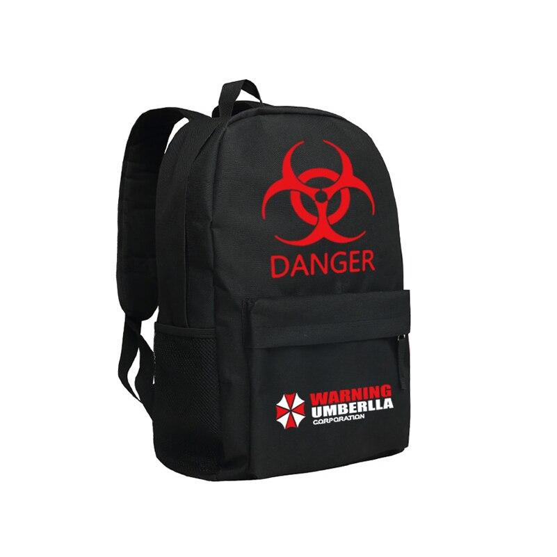 Zshop Cool Girls Backpack Resident Evil School Bag Danger Warning Umbrella Corporation Backpack Red Queen zshop nine track charlie puth backpack for fans famous singer daypack