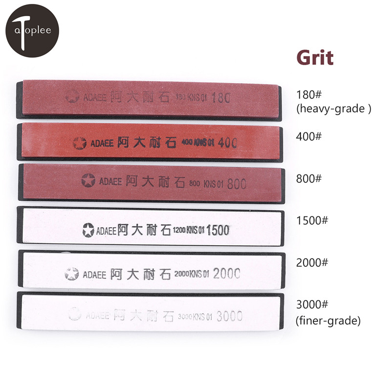 New 1pc 180# 400# 800# 1500# 2000# 3000# Grit Whetstone Knife Sharpening Stones For Kitchen Knife Sharpener Tools Grinding Stone