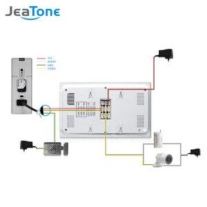 Image 5 - Jeatone 4 유선 비디오 도어 폰 인터폰 초인종 홈 보안 시스템 도어 스피커 통화 패널 + 7 인치 모니터 + 1200tvl 카메라
