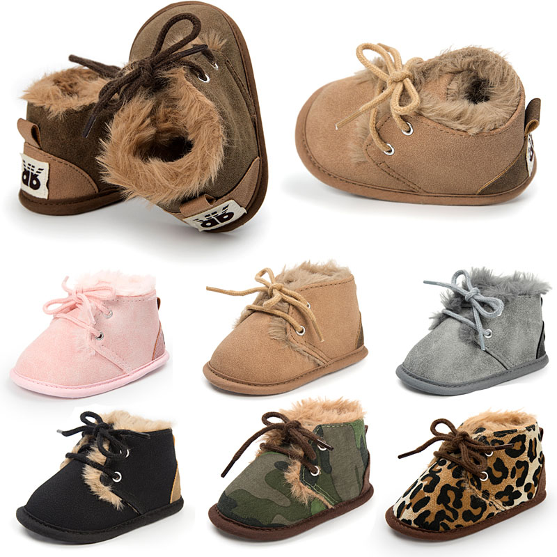 WONBO 2018 Winter Fashion Baby Snow Boots Worm Baby Boots Infant Toddler Shoes