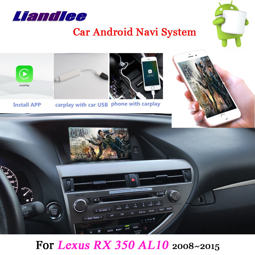 US $550 55 23% OFF|Liandlee Car Android System For Lexus RX 350 RX350 AL10  2008~2015 Radio Stereo Carplay GPS Wifi Navi MAP Navigation Multimedia-in
