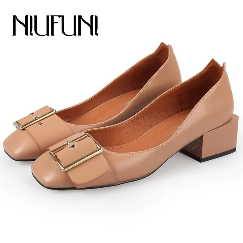 aliexpress buy square toe genunie leather shoes