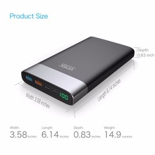 Vinsic 20000mAh Power Bank Quick Charge 3.0 Two-way Quick Charge Type-C Dual USB Battery Charger for iPhone X 8 8 Plus Xiaomi