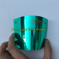 High Quality Stretchable Tiffany Green Chrome Car Vinyl Wrap Film For Car Decal Air Bubble Free