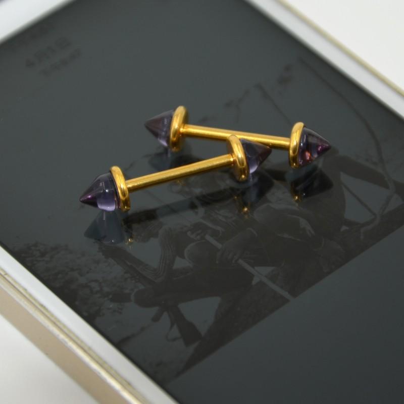 HTB1YE6cOXXXXXaFXFXXq6xXFXXXe 1-Pair Glass Cone Barbell Bar Piercing Nipple Ring Jewelry - 8 Color Styles