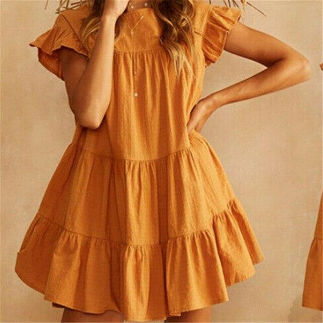 Short Sundress With Cascading Ruffles 3