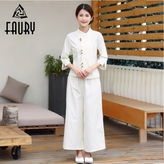 Chinese Retro Style Nurse Uniform Lab Coat Tops Casual Pants Hospital Medical Clothes New Design Beautician Workwear Scrub Sets