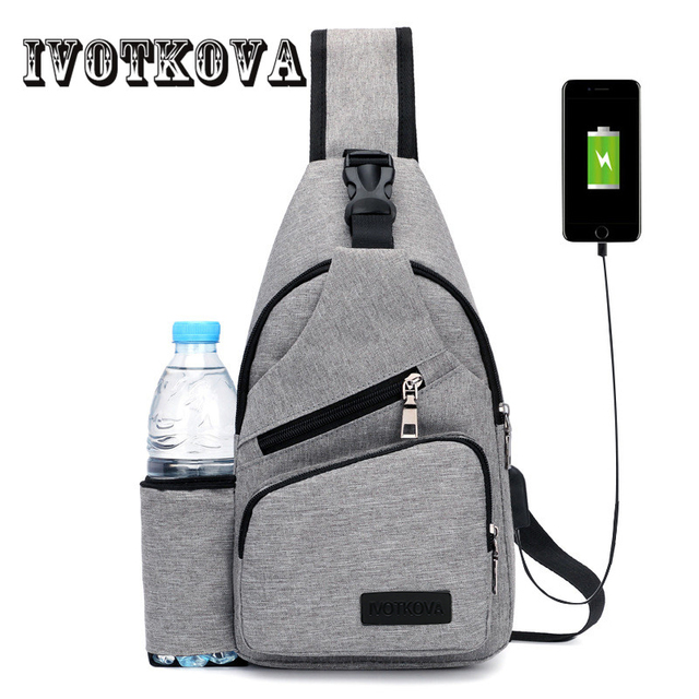 f37ad326bc IVOTKOVA Nylon Men Women Chest Pack Crossbody Bag Casual Travel Rucksack  Chest Bag Small Sling Bags. Mouse over to zoom in