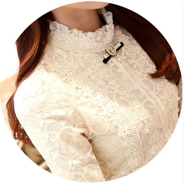 2017 novas mulheres encabeça mulheres clothing moda blusas & camisas de lã mulheres crochet blusa de renda mudança