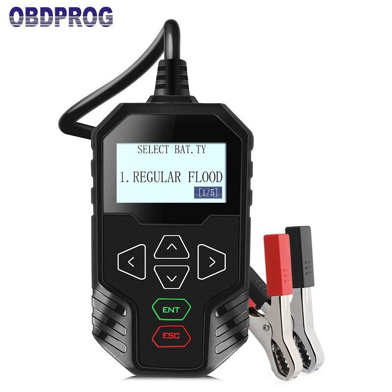 OBDPROG MT300 12V Car Battery Tester 24V Trucks Battery ...