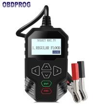 OBDPROG MT300 12V Car Battery Tester 24V Trucks Battery Test Digital Analyzer 2000CCA Support Engine Start-up Test with Russian