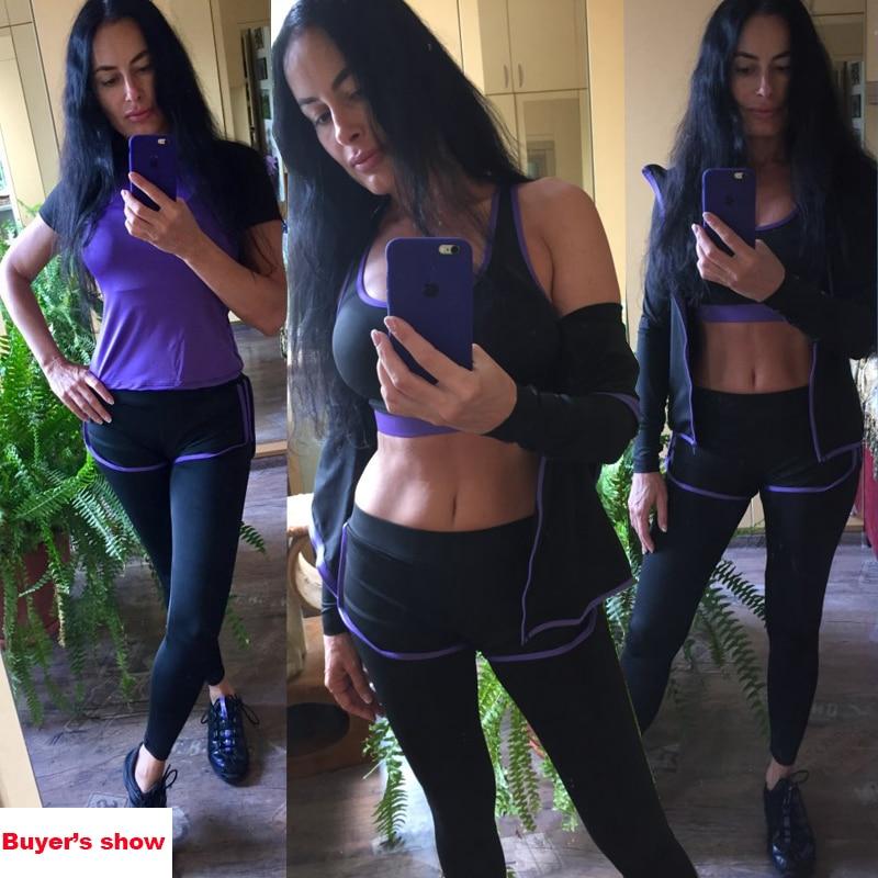 Пирожок как 5 шт. Для женщин Йога набор для беговая футболка Фитнес бюстгальтер спортивная одежда Для женщин тренировки комплект спортивный...
