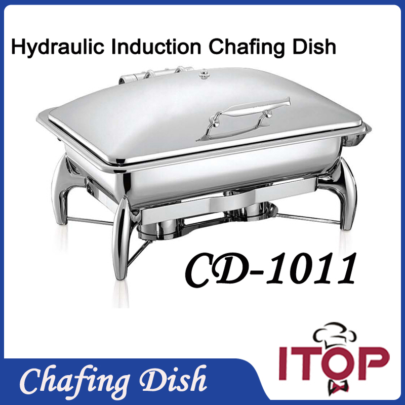 luxurious restaurant chafing dish 9l hotel buffet equipment hydraulic induction commercial chafing dish gastronomia pan