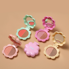 NOVO Brand Macaron Two Color Matte Shimmer Eyeshadow Powder Smooth Glitter Lovel