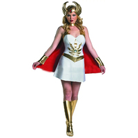 High Quality Masquerade Game Plays Supergirl Uniform New Devil Stage Performance Suit Avengers Superman Dress White