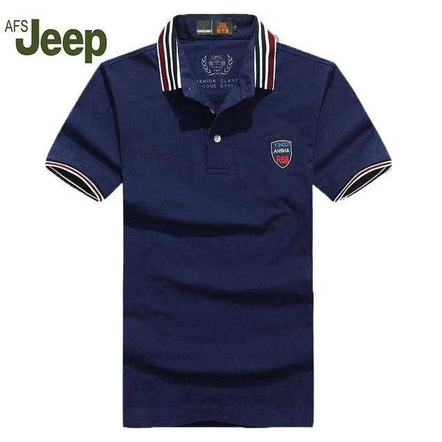 2016, лето, новый АФН JEEP/Battlefield Jeep мужские случайные короткими рукавами рубашки поло сплошной цвет короткий с длинными рукавами рубашки поло лацкане 55