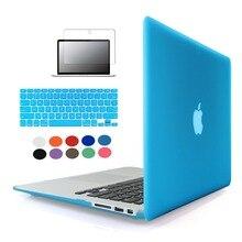 Portátil caja de la manga para macbook air 11/13 pro 13/15 pro retina 12 13 bolsa de portátil cubierta cristalina dura de la pc para macbook pro caso