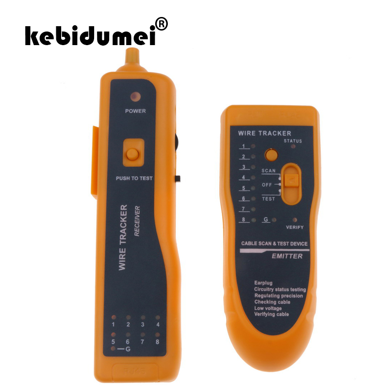 New RJ45 RJ11 Cat5e Cat6 Network Telephone Wire Line LAN Cable Tester Test Tool