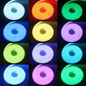 Image 2 - Rất đẹp ỨNG DỤNG và điều khiển từ xa Neon băng mềm neon ánh sáng RGB dây ĐÈN LED 220 V 220 V LED Chống Thấm Nước sọc