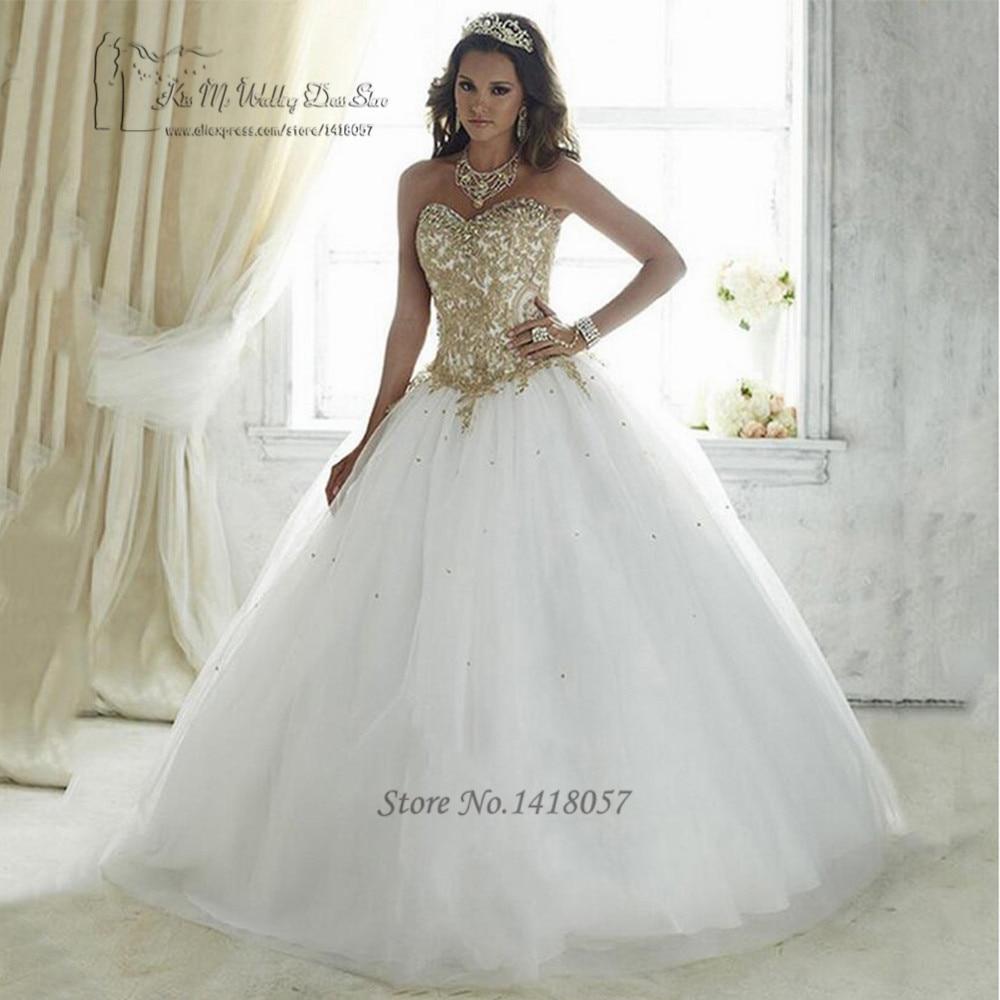 Aliexpress.com : Buy Vestidos de 15 Anos White Cheap Quinceanera ...
