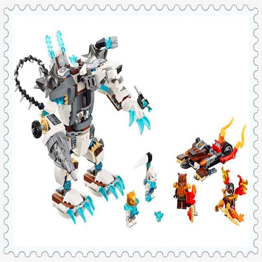 629Pcs Chimaed Icebite's Claw Driller Model Building Block Toys Enlighten 10355 Figure Gift For Children Compatible Legoe 70223 lepin 22001 pirate ship imperial warships model building block briks toys gift 1717pcs compatible legoed 10210