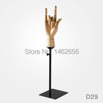 Conception de mode grand en bois humain artiste bois artisanat main jouet Flexible en bois main Mannequin avec Base Decoracao Mannequin