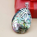 32*46mm Prevalent Natural color Abalone seashells Flower clasp short pendants Women Chic jewelry Wholesale and retail
