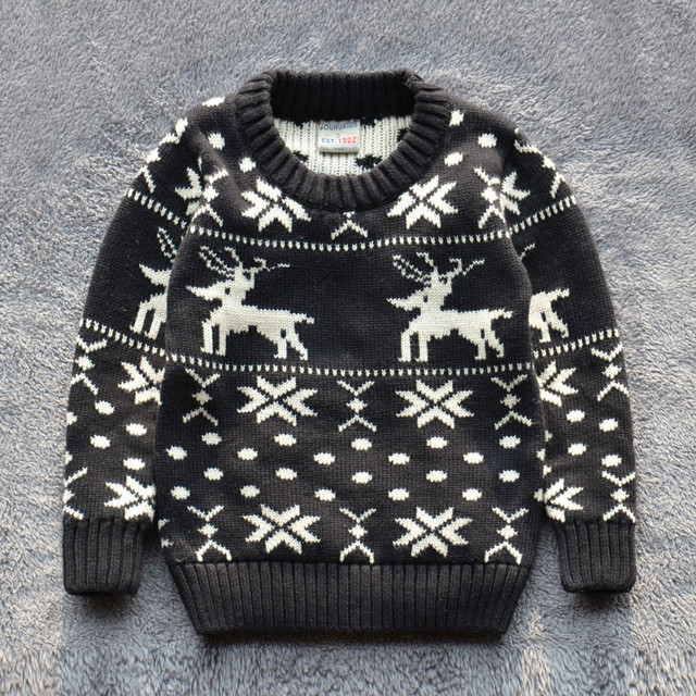 Children Sweaters baby boys girl 100%Cotton warm sweater 2015 New Autumn winter Pullover Sweater kids clothing 2-7Y Good quality