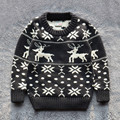 Crianças blusas meninos 100% algodão camisola 2015 outono inverno quente pulôver roupas 2-7a boa qualidade