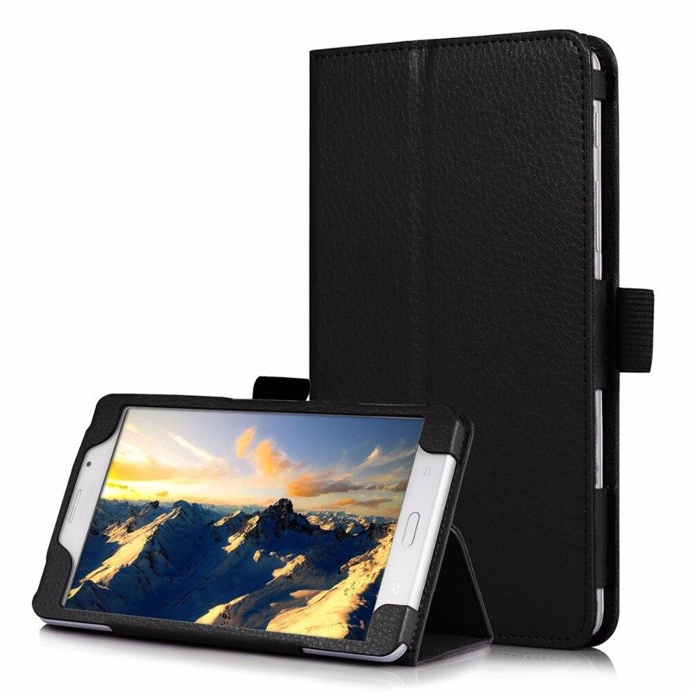 PU Étui En Cuir pour Samsung Galaxy Tab Un 7.0 T280 T285 SM-T280 SM-T285 Couvre Cas Tablet Flip Stand Futé Shell Funda Capa