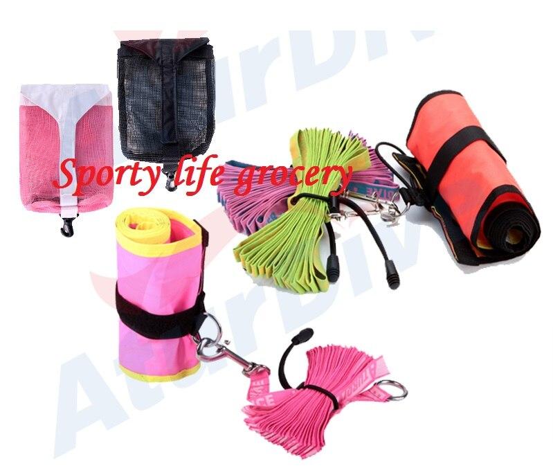 цена на SCUBA dive inflate float SMB set + SMB rope +Bag 10 options surface maker buoy kit