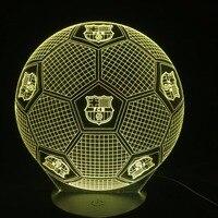 7 Kolory Futbol Piłka Nożna 3D Led Lampki Nocne USB Lampa Stołowa Soccer Lampora Nightlight Sypialni Wystrój Domu Snu