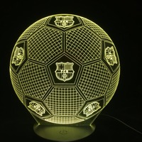 7 Colors Madrid Football 3D Led Night Lights USB Football Table Lamp Soccer Lampara As Home