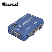VGA Splitter 4 Port Case Splitter 1 in 4 Out Ports Monitors Supports 2048x1536 450MHz For PC Display VGA Duplication