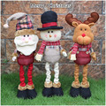 Hot Sell Kawaii 62*16cm Christmas Plush Toys Santa Claus Snowman Elk Dolls,Home Decorations,Toys for Children/Kids