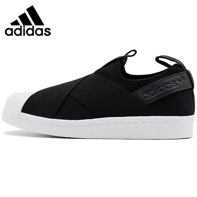 e7fd25cb56c Nova Chegada Original 2018 Originais Adidas SUPERSTAR SlipOn Unissex  Sapatos de Skate Tênis